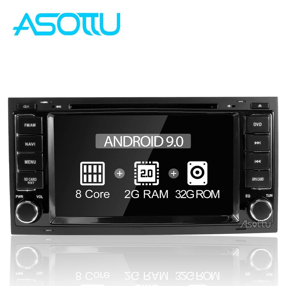 Asottu GPS Navigation Radio Car Dvd Android 9.0 Touareg for Vw 2002-2007