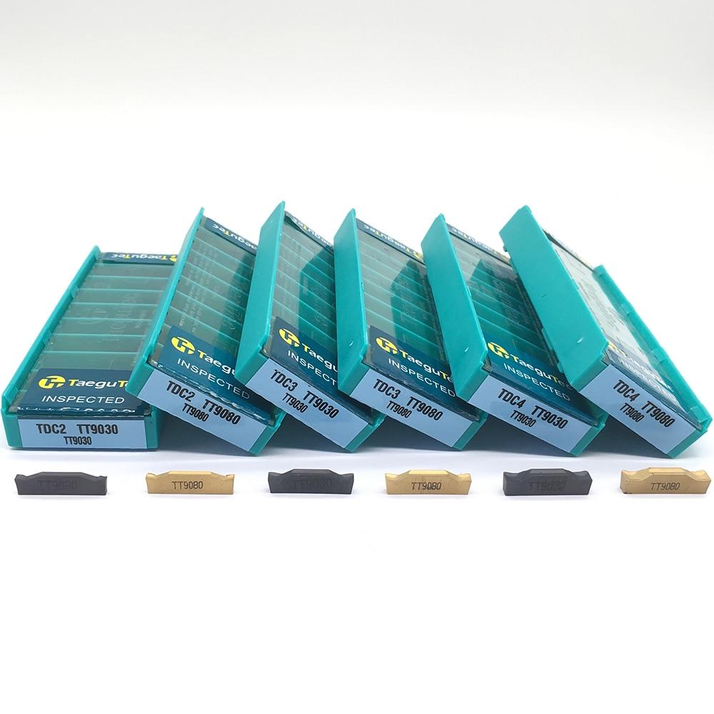 Sale 10PCS TDC2 TDC3 TDC4 TT9030 TT9080 Carbide Inserts Cutting Lathe Grooving Turning Tools CNC Tools