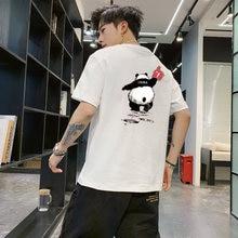 Мужские футболки в стиле Харадзюку с веселым принтом панды Молодежные