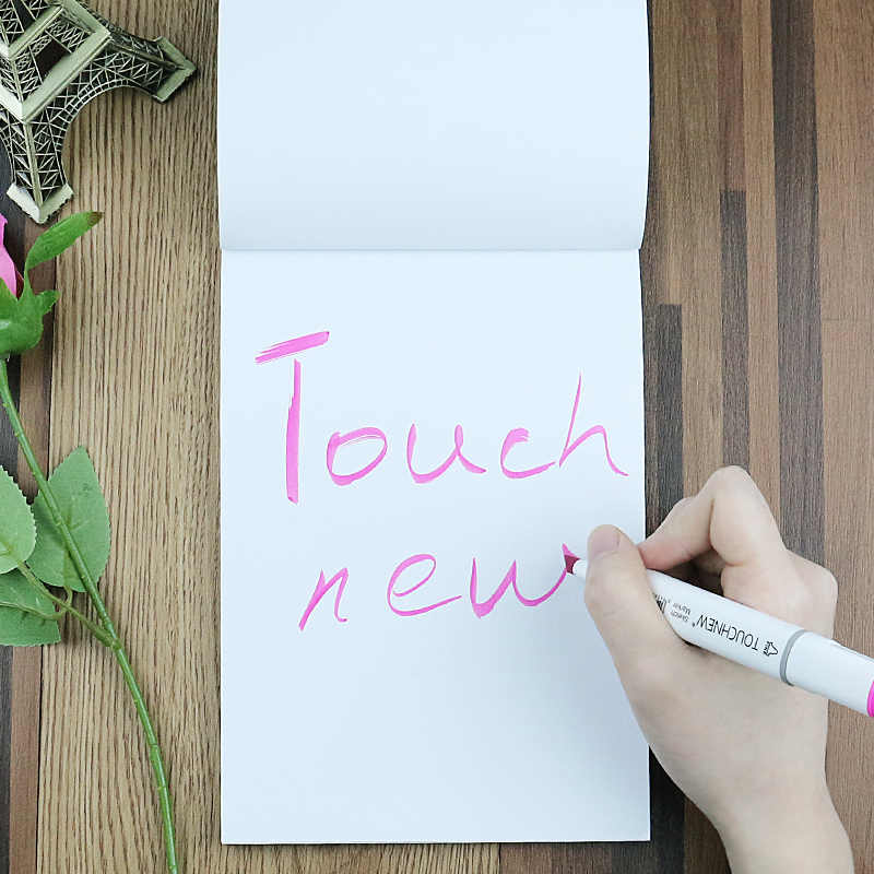 Touchnew A5 Professionale Schizzo Libro Bianco Marcatore Blocchetto per Appunti di Carta 30 Lenzuola per Il Disegno Notebook Materiale Scolastico di Cancelleria