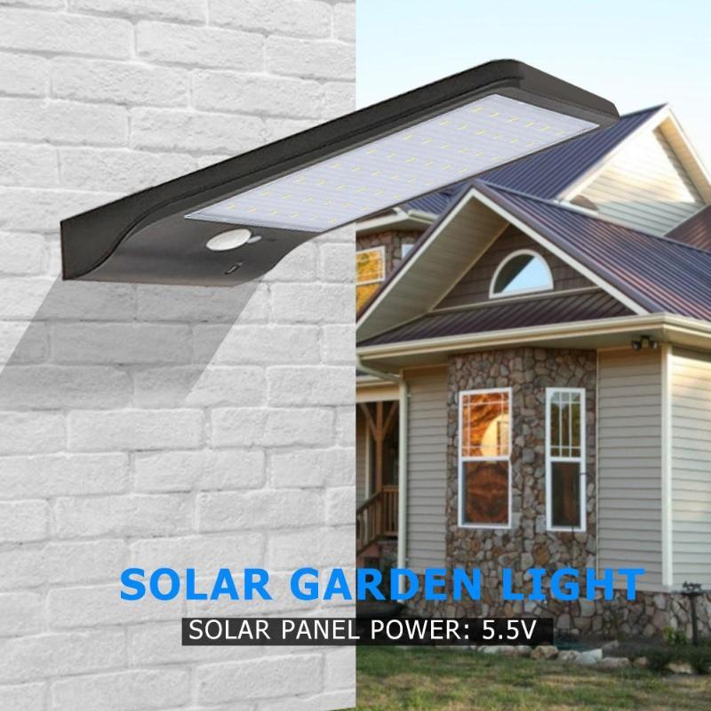 Solar Light Outdoor Solar Lamp PIR Motion Sensor Wall Light Waterproof Sunlight Powered Garden street light 114/100 LED