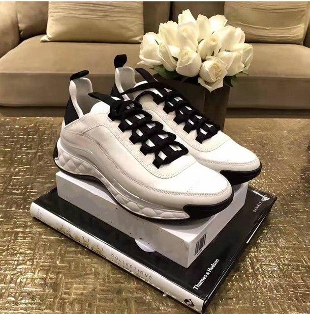 White Women Shoes  Platform Sneakers  1