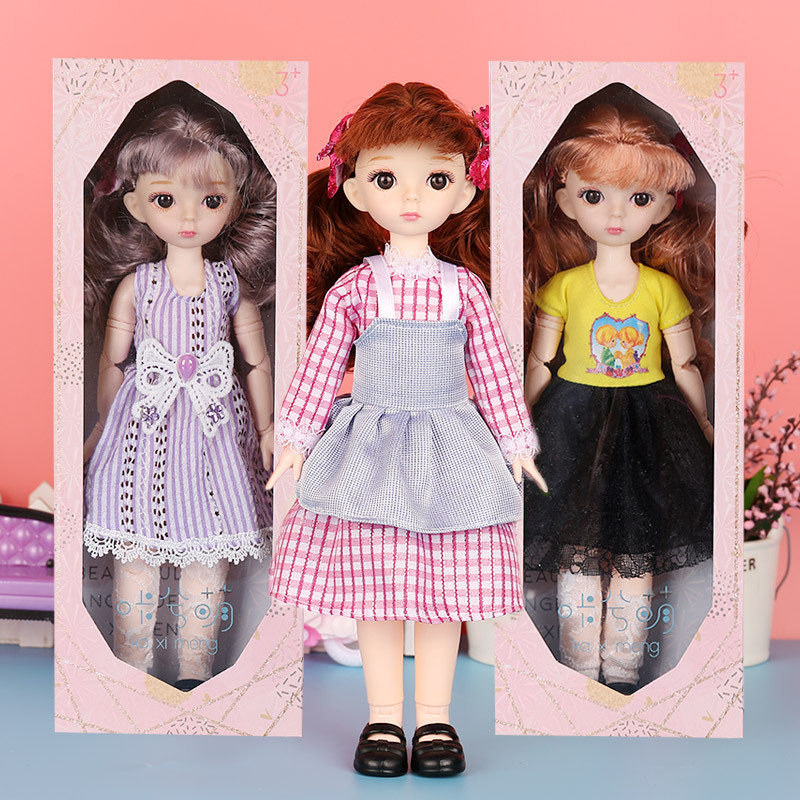12 Inch BJD Doll Movable 25 Joints 31cm 1/6 Makeup Dress Up BJD Sleep Dolls With Clothes For Girls Toy Gifts New