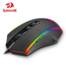 Redragon CHROMA M710 USB Wired Gaming Computer Mouse Wired 10000 DPI 8 buttons 7 color mice Programmable ergonomic For PC Gamer