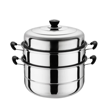 New Stainless Steel Three Layer Thick Steamer Pot Soup Steam Pot Universal Cooking Pots for Induction Cooker Gas Stove