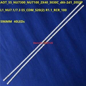 Светодиодный 40 светодиодных лент, светодиодный s-экран, для AOT_55_NU7300_NU7100_2X40_3030C_d6t-2d1_20S2P, HG55NJ678U, UE55NU7402, светодиодный, для, HG55NJ678U, UE55NU7402