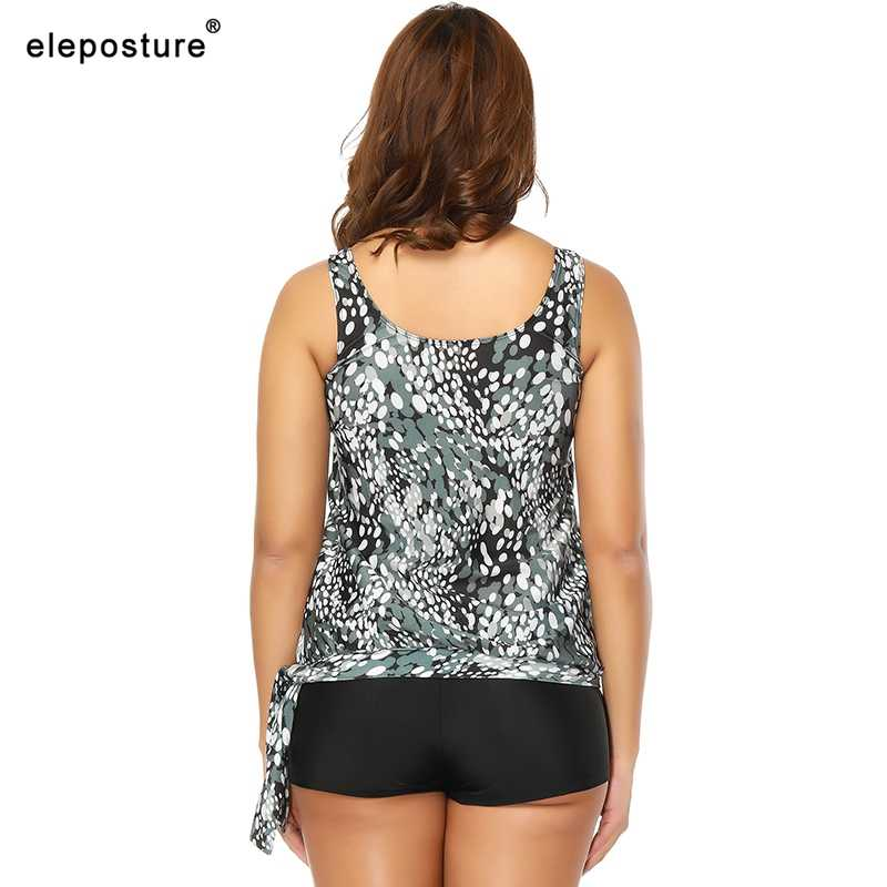 2020 Tankini Baju Renang Wanita Plus Ukuran Baju Renang Berpinggang Tinggi Pakaian Renang Pakaian Renang Vintage Retro Baju Renang Maillot De Bain