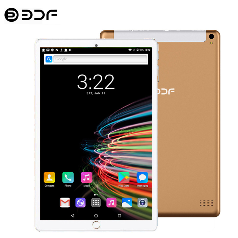 Tablet New 10.1 Inch Tablets Android 7.0 Quad Core 3G Phone Call 32GB Wi-Fi Bluetooth 4.0 Dual SIM Super Memory Tablet PC