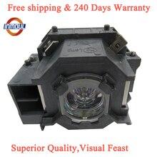 A + jakość i 95% jasności lampa projektorowa ELPLP41 do projektora EPSON EMP S5 EMP S52 EMP T5 EMP X5 EMP X52 EMP S6 EMP X6 EMP 260