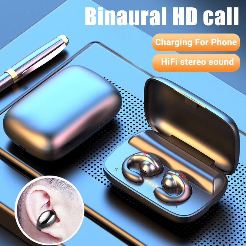 Bluetooth наушники с костной проводимостью 5,0, беспроводные наушники, TWS гарнитура, спортивные наушники для IPhone Наушники и гарнитуры      АлиЭкспресс