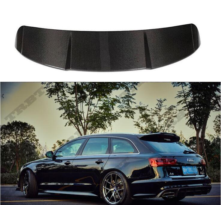 A6 Avant Real Carbon Fiber Car Rear Wing Trunk Lip Spoilers For Audi A6 Avant S6 A6 RS6 2016 2017 2018 2019 image