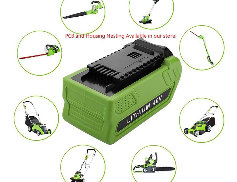 PCB Board Storage Case Housing Nesting For Creabest 40V 200W GreenWorks 29462 29472 22272 G-MAX GMAX L10