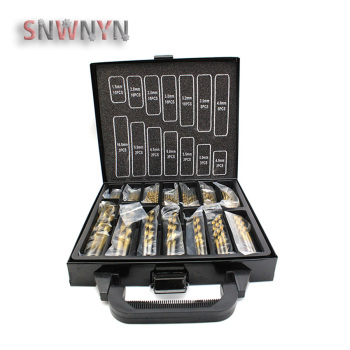 цена на 99PCS 1.5-10mm Titanium Coated HSS Twist Drill Bits Stainless Steel High Speed Drill Bit Set For Woodworking Electrical Drill