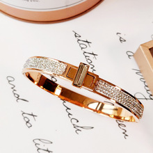 Hot Sale Stainless Steel Mesh Gold Rotary buckle Zirconia Charm Steel titanium Brand Bracelet Bangle for Woman Jewelry Gifts