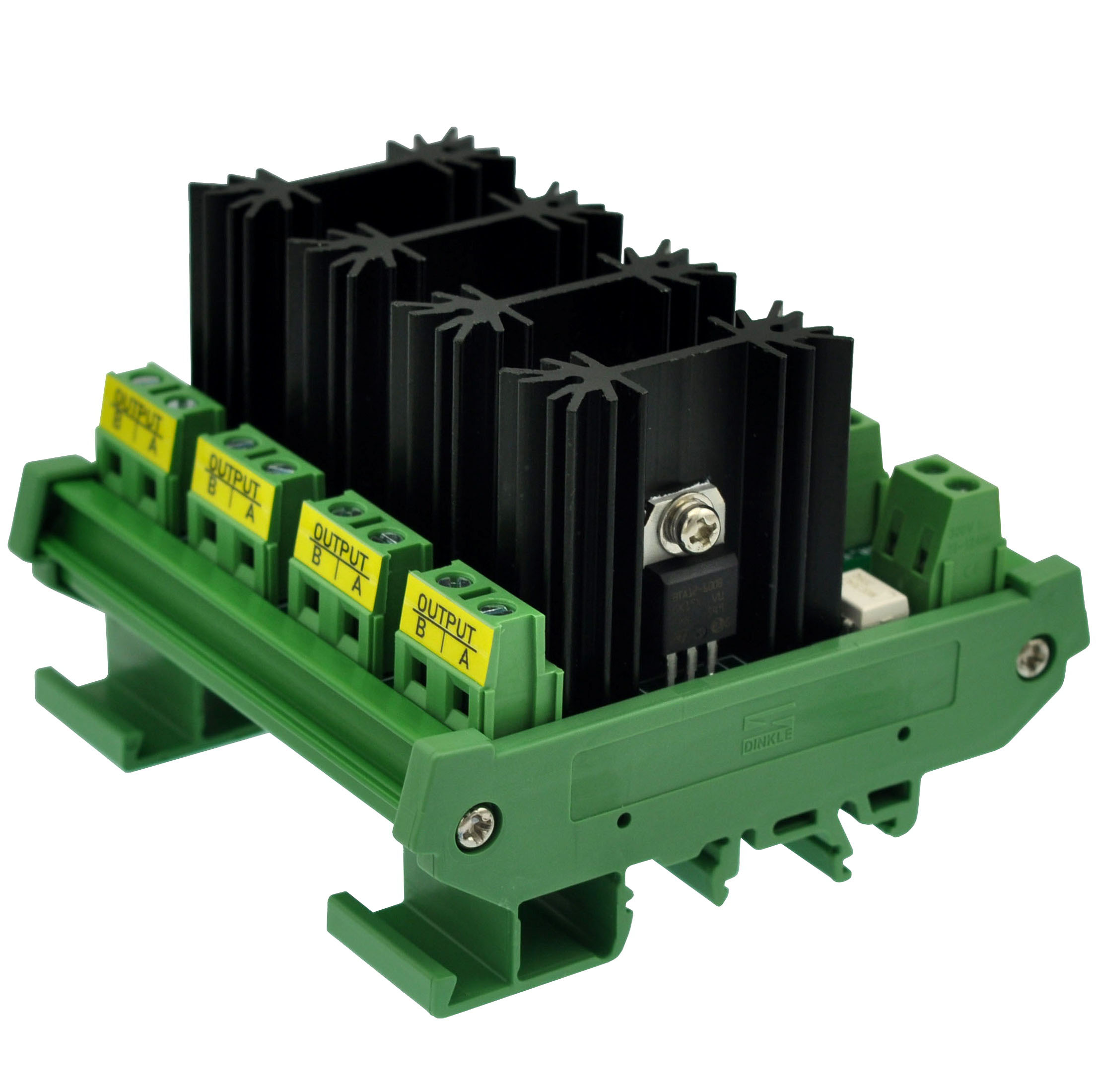 CZH-LABS DIN Rail Mount 8 Amp Solid State Relay SSR Module, in 4~32VDC, Out 100~240VAC. (4 Channels)