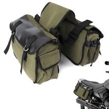 Alta calidad moto ciclismo bolso trasero de la motocicleta mochila alforjas equina mochila de lona equipaje bolso Vintage