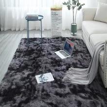 Carpet Hair-Rugs Gray Non-Slip Fluffy Pink Blue Black Nordic Living-Room/bedroom Large-Size