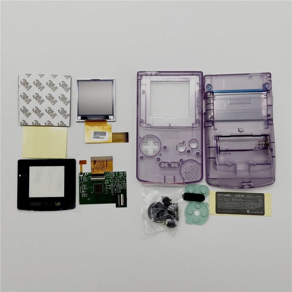 GBC LCD de alto brillo y nueva carcasa para Gameboy Color, pantalla LCD GBC