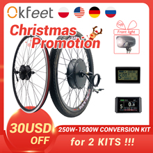 2020 eBike Conversion Kit 48V 1500W 1000W 750W 36V 500W Front Rear e-bike e Bike Wheel Hub Motor Electric Bicycle Conversion Kit