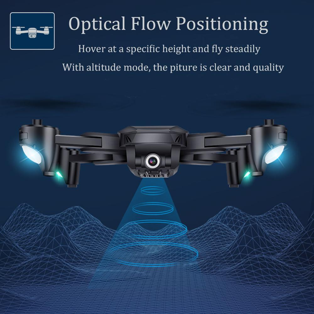 H12 Best Profissional RC Drone WIFI FPV Quadcopter 4K with Dual HD Camera 4K Long Flight Time Foldable Altitude Hold RC Drone (dual 4k 1 battery)