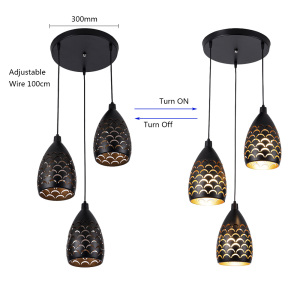 Image 5 - Indoor Modern LED Ceiling Lights Simple restaurant living room bedroom Lighting fixture accessory Scaly hollow iron ceiling lamp