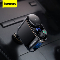 Baseus FM Transmitter Bluetooth Handsfree Car Kit Wireless Auto Audio MP3 Player Quick Charge Dual USB Car Charger FM Modulator