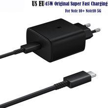 Original 45w USB-C carregador de carga rápida super adaptável EP-TA845 para samsung galaxy note 10 plus note10plus 5g a91 note10 + a51 a71