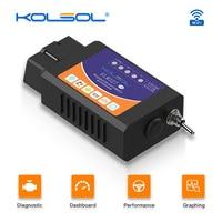 Varredor v1.5 elm327 de kolsol elm327 wifi obd2 com varredor do carro do interruptor