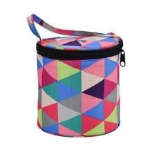 DIY Printing Weaving Tool Storage Bag Crochet Organizer Lancheira Sewing Supplies Handbag Wimen