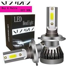 цена на XFZMZBZ Led Car Light H7 H11 H4 H1 9005 9006 36w 6000k 3800Lm Led Headlight COB AUTO Car Lamp