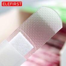100 unidades/pacote transparente ferida adesivo emplastro médico anti-bactérias bandaid ataduras adesivo kit de primeiros socorros de viagem em casa