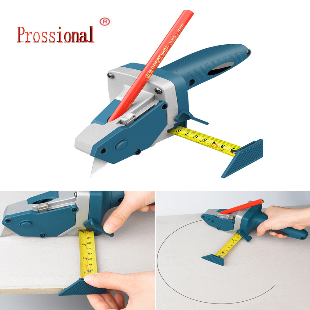 Gypsum Board Cutting tool Drywall Cutting Artifact Tool with Scale  Woodworking Scribe Woodworking Cutting board tools
