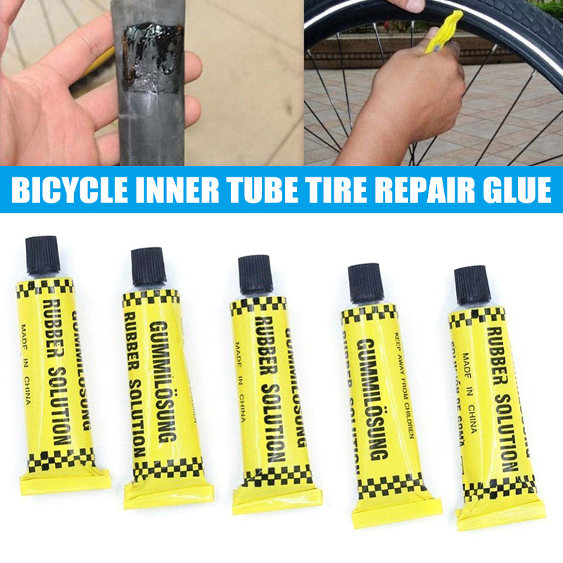 Bicycle Bike Tire Tyre Tube Patching Glue Rubber Cement Adhesive Repair Tool C55K Sale