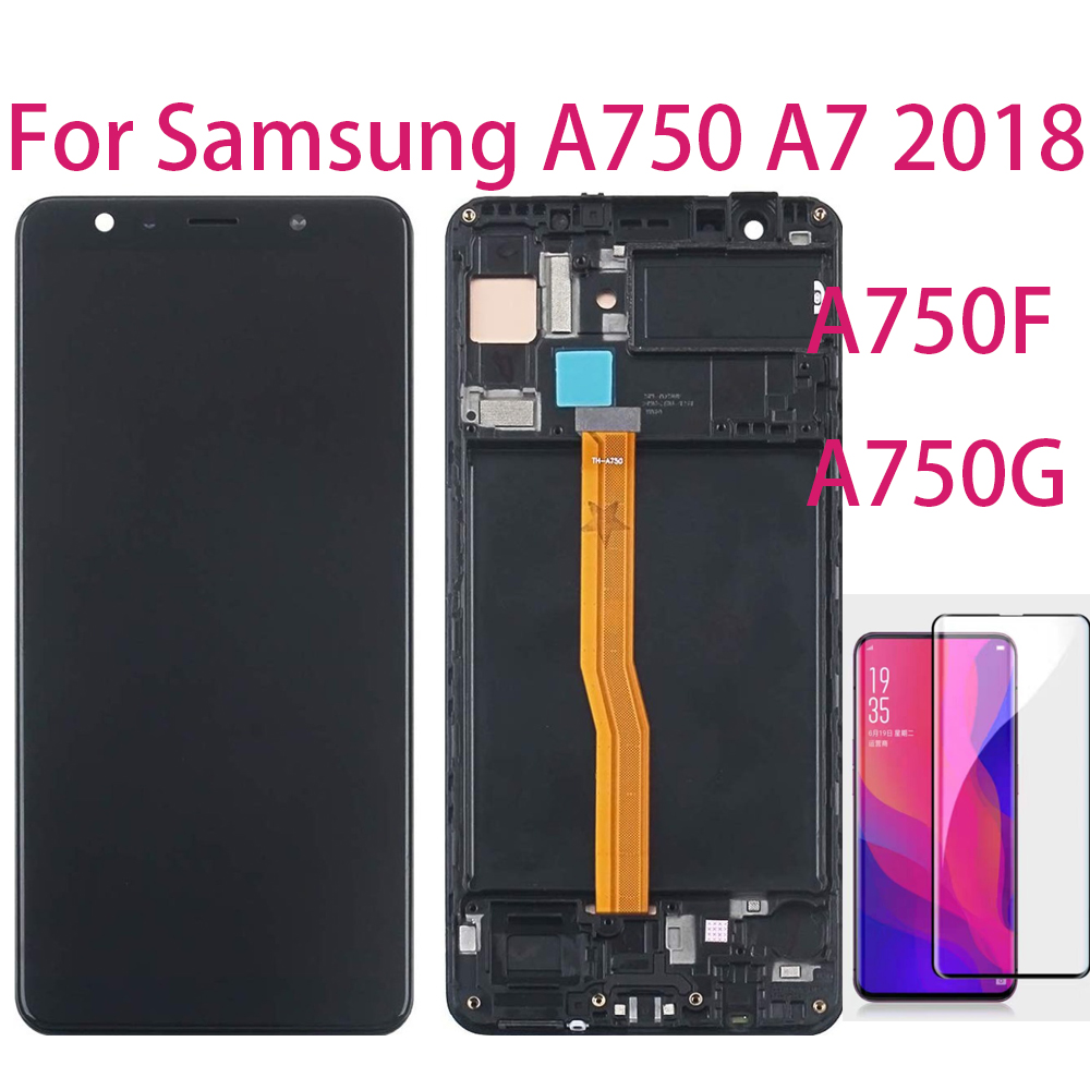 TFT 6.0'' For Samsung Galaxy A7 2018 A750F A750G A750FN Touch Screen Digitizer LCD Display With Frame For Samsung A750