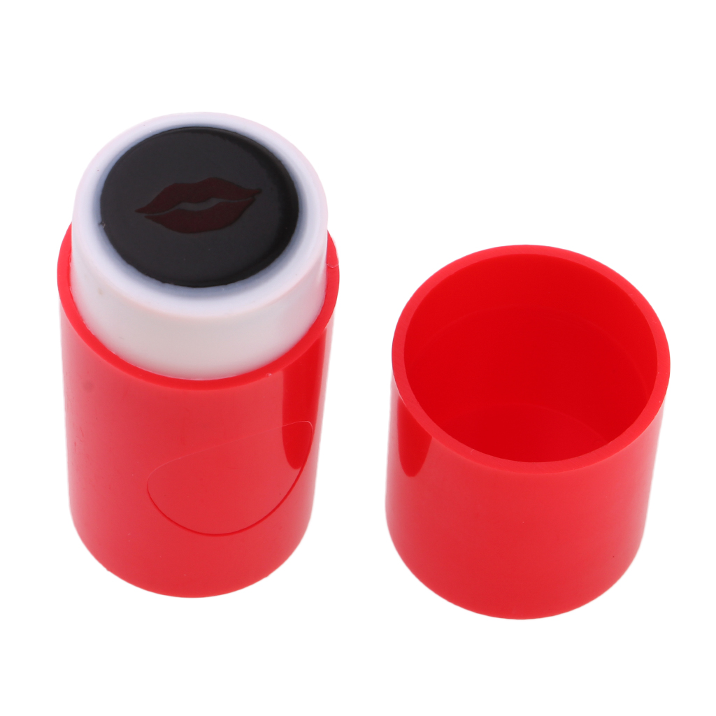 2pcs Plastic Golf Ball Stamp Stamper Marker Quick-Dry With Lips Shape