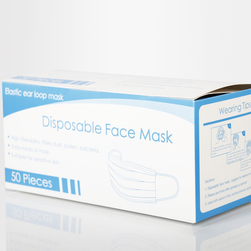 Image 5 - Medical Surgical Disposable Face Mouth Mask Windproof Anti Dust Doctors 3 Ply face Masks With Shield Medical In Stock 20/100PCSMasks   -