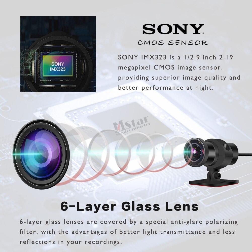 SYS VSYS corps complet étanche moto caméra enregistreur P6FL WiFi double 1080P Full HD moto DVR tableau de bord caméra noir GPS boîte - 4