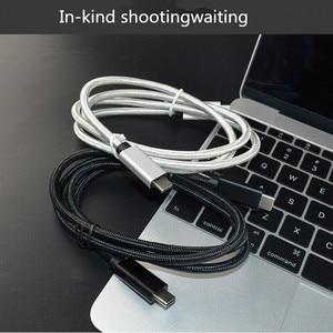 Image 5 - Usb タイプ c ケーブル macbook pro のためのサムスン S9 S10 huawei 社 P30 高速充電 pd 高速充電 100 ワット 5A usb c usb c ケーブル