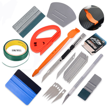 FOSHIO Vinyl Car Wrap 50M Knifeless Tape Carbon Film Foil Wrapping Squeegee Scraper Knife Sticker Cutter Kit Auto Accessories