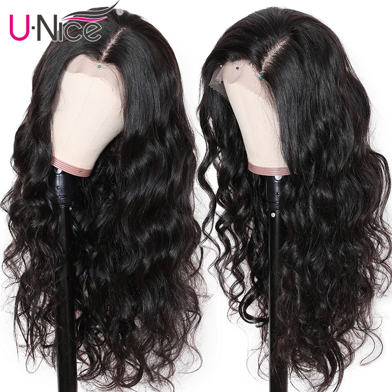 Image 4 - Волосы UNICE, 360, фронтальный парик, бразильские волосы Remy, волнистые парики, 10 26 дюймов, человеческие волосы, парики для черных женщин, предварительно выщипанные с детскими волосами-in Парики с сеткой спереди from Пряди и парики для волос on AliExpress