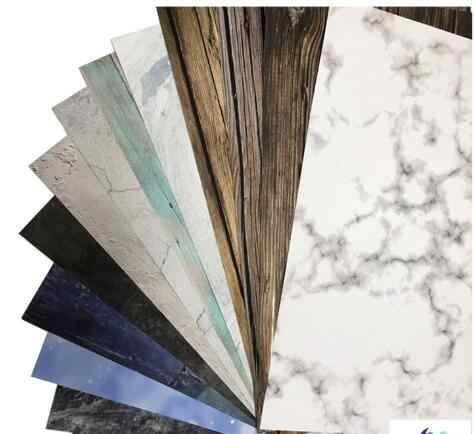 57*87cm INS Style Double côtés bois marbre ciment mur comme Vintage photographie fond toile de fond carton accessoire pour la nourriture