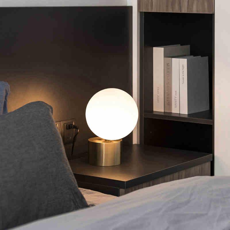 nordico moderno retro lampada mesa vidro 02