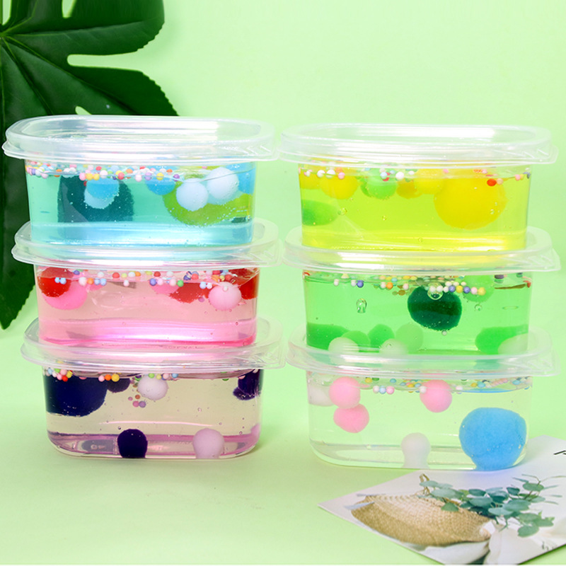 Supplies Kit Fluffy Limes Fruit Polymer Light Accessories Clay Putty Slime Toys
