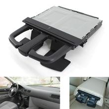 Автомобильный держатель для стакана для напитков, коробка для хранения, держатель, раздвижная Черная передняя приборная панель для VW Jetta Bora Golf MK4 MKV Audi A3 S3 A4 A6 Q5
