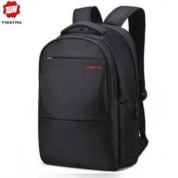 Tigernu Large Capacity 31cm*42cm 17inch Laptop Backpacks Men Water Repellent  Anti theft  Black Backpack Bag Women Male Mochila