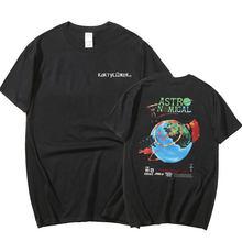 2021 new men's and women's short-sleeved fashion hip-hop cotton T-shirt Travis Scott astroworld Harajuku T-shirt letter print to