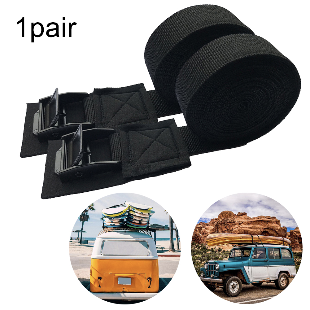 2x strap tie down teather strong luggage cargo roof bike rack suitcase webbing