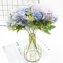 1 bouquet of hydrangea Artificial flower Home decoration accessories Wedding Diy Dining table Wine cabinet Indoor furnishings
