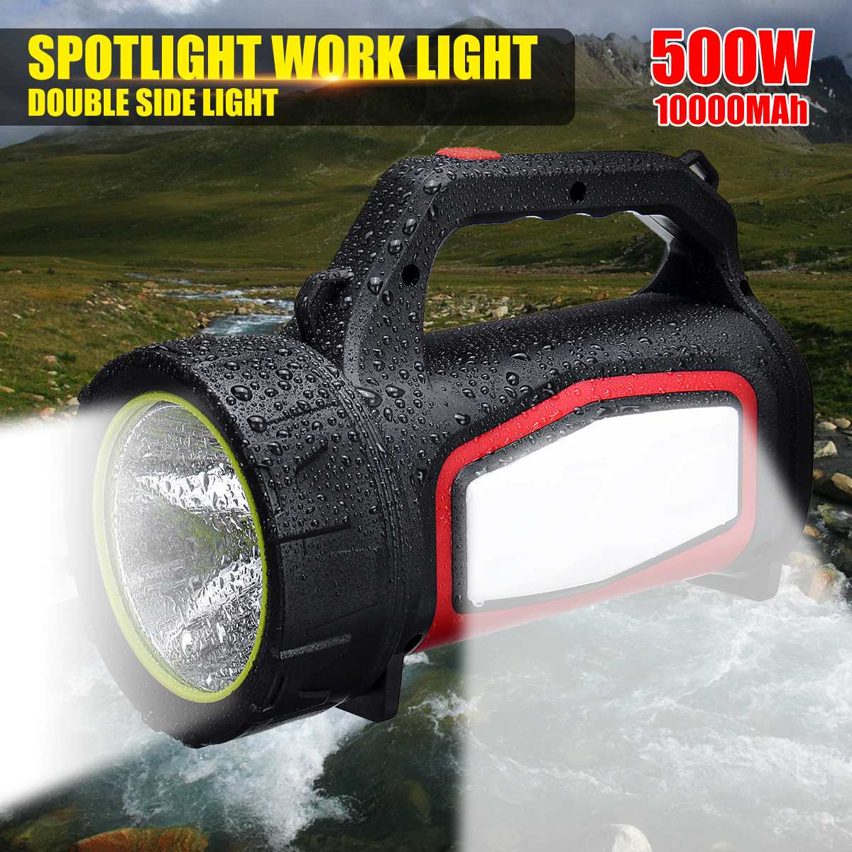 3500LM Super bright Powerful USB LED flashlight Searching torches night light lamp hand Camping lantern rechargeable battery