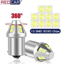Ampoule Led P21W 1156 BA15S, feu de voiture 1157 BAY15D BAU15S PY21W, clignotant, feu de stop arrière 10SMD 3030 puces 12V Auto 2 pièces